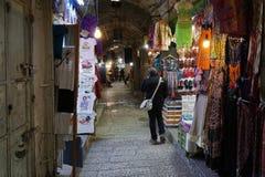 报道的市场在老城耶路撒冷 免版税库存图片
