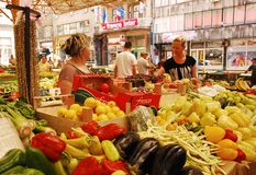 报道的市场在萨拉热窝 免版税库存图片