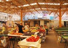 报道的市场在萨拉热窝 库存照片
