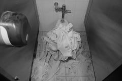 报道的洗手间 免版税库存图片