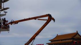 抬头北京天安门街灯监视照相机安装工维护  股票录像