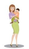 抱孩子的母亲 库存照片