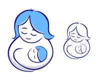 抱着婴孩的母亲 库存照片