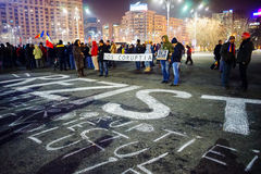 `抵抗`消息,布加勒斯特,罗马尼亚 免版税库存图片