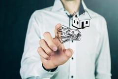 抵押概念 安置货币 免版税库存照片