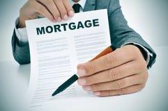 抵押贷款合同 免版税库存照片
