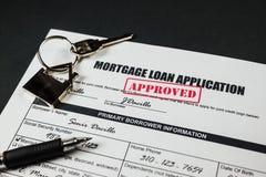 抵押贷款应用批准了003 免版税库存图片