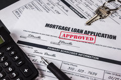 抵押贷款应用批准了007 免版税库存照片