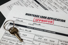 抵押贷款应用批准了010 免版税库存图片