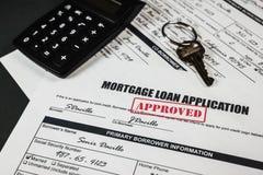 抵押贷款应用批准了011 库存图片