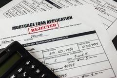 抵押贷款应用拒绝了003 库存照片
