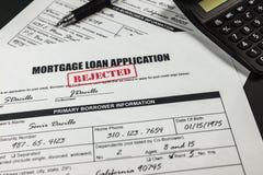 抵押贷款应用拒绝了010 库存照片