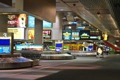 抵达休息室在机场McCarran。拉斯维加斯,内华达 免版税库存图片