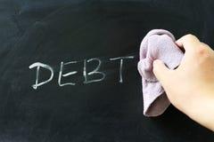 抹债务 免版税库存图片