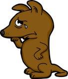 抹鼻子的哀伤的狗 免版税库存照片