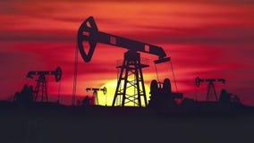 抽在制造阶段领域石油的全球性生态工厂汽油油 库存例证