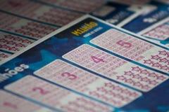 抽奖券Euromillions 免版税库存图片