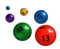抽奖的色的塑料球形 图库摄影
