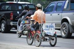 抽奖销售人私有自行车  免版税图库摄影