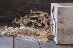 抽屉木头鸠尾榫 免版税库存图片