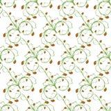 抽样白色背景节奏性绿色草莓的样式 免版税库存照片