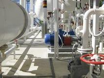 抽汽油的离心泵 泵浦精炼厂 免版税库存图片