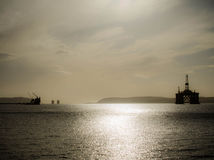 抽油装置在苏格兰 免版税库存照片