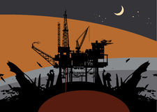 抽油装置Drillin 免版税图库摄影