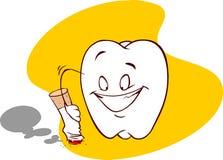 抽烟和牙齿 免版税库存图片