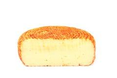 抽烟的干酪片 库存照片