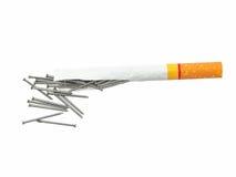抽烟的杀害。 库存图片