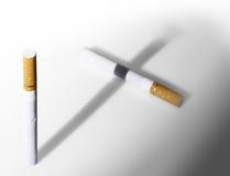 抽烟的杀害 库存照片