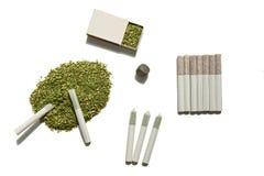 抽烟的杂草 库存照片