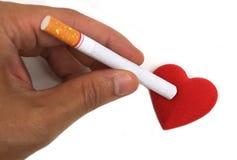 抽烟的毁坏的健康 库存图片