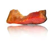 抽烟的熏鲑鱼 库存图片