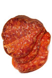 抽烟的红色香肠 免版税库存照片