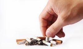 抽烟的终止 图库摄影