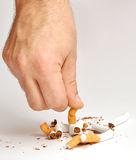 抽烟的终止 库存照片
