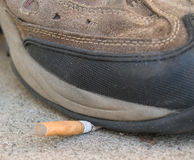 抽烟的终止 免版税库存照片