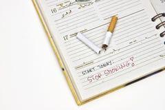 抽烟的终止 免版税图库摄影