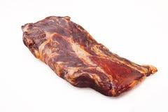抽烟的肉一件猪肉 免版税库存照片