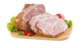 抽烟的肉猪肉 库存照片