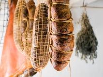 抽烟的肉 免版税库存图片