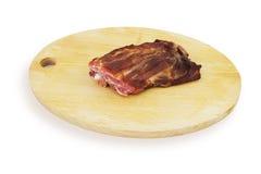 抽烟的肉 免版税库存照片