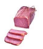 抽烟的腰部猪肉 库存照片