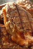 抽烟的自创用卤汁泡的肉猪肉 免版税库存图片