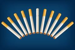 抽烟的香烟wrong3 免版税库存照片