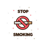 抽烟的终止 也corel凹道例证向量 免版税库存照片
