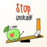 抽烟的终止 库存例证