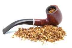抽烟草的管子 免版税库存图片